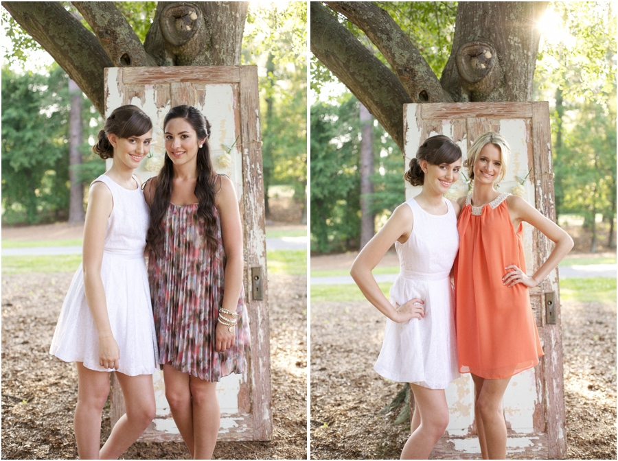 vintage door propped against a tree, simple photo booth backdrop ideas, southern editorial photography