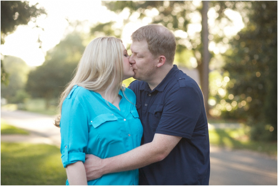 romantic engagement photography, raleigh nc