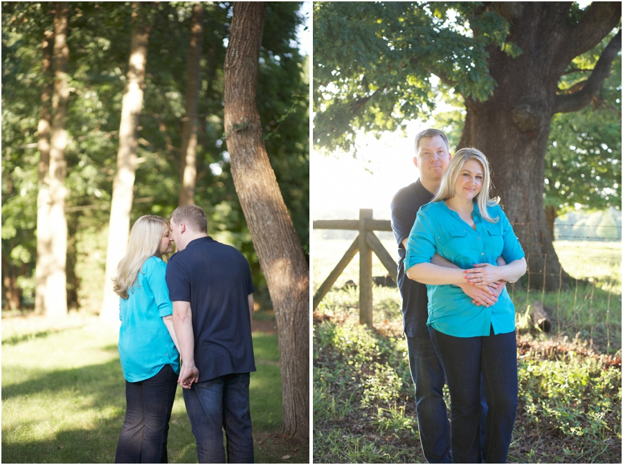 romantic southern engagement photography, north carolina engagement photographers