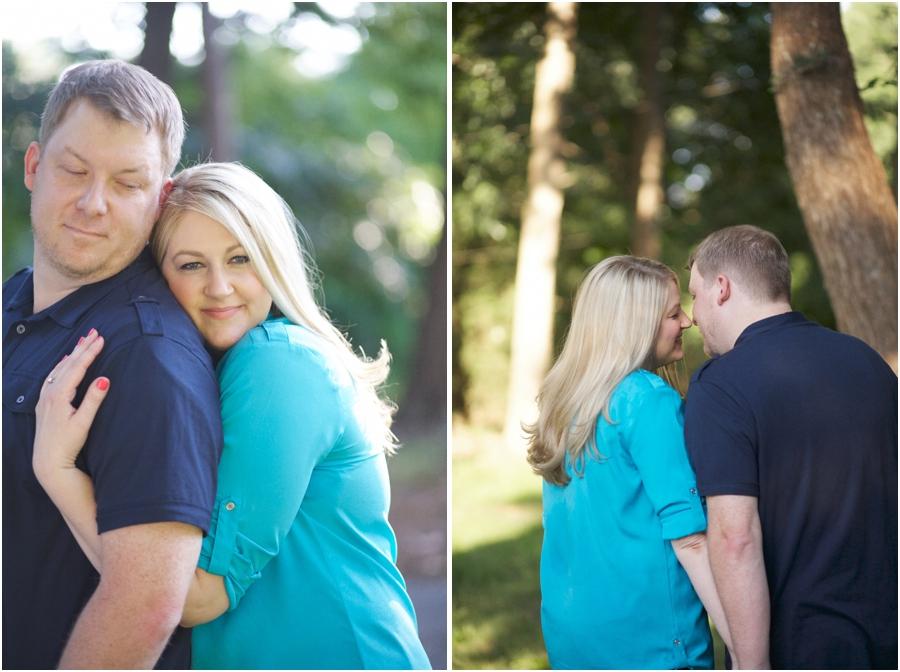cute engagement portrait poses, romantic engagement photography