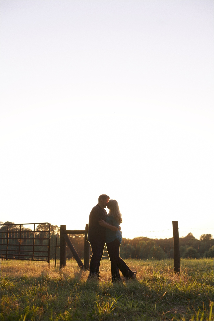 sunset engagement photography, raleigh nc