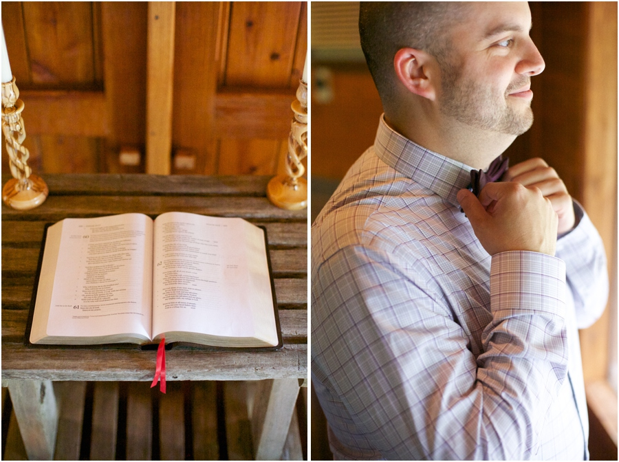 rustic wedding photography, groom getting ready