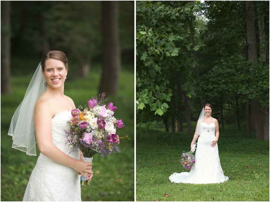 outdoor bridal photography, woodsy wedding photography, raleigh nc