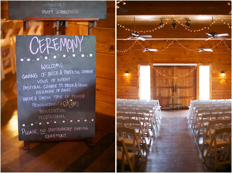 chalkboard wedding program, unplugged wedding inspiration, rustic wedding photography