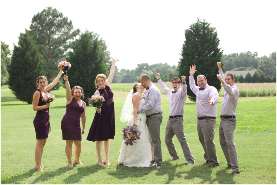 southern weddings, fun wedding party poses, vintage wedding photographer, raleigh nc