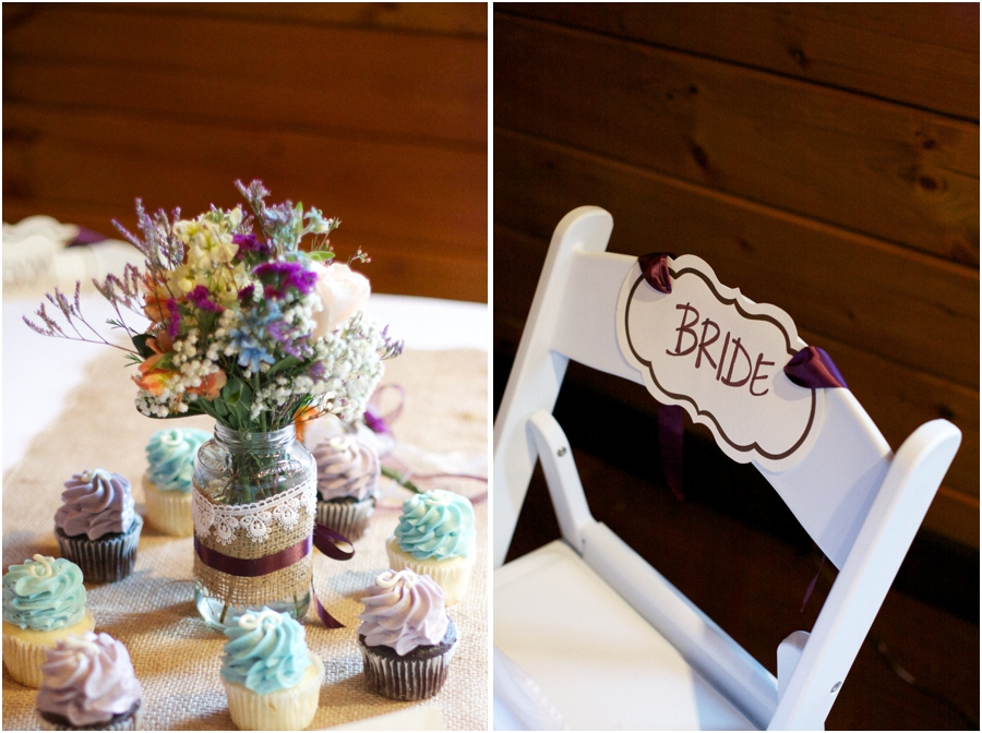 pretty rustic reception table centerpieces, bride's chair, southern wedding photographer
