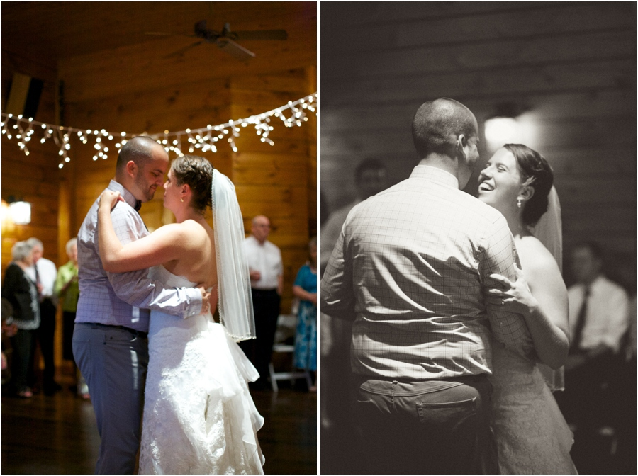 bride and groom dancing, rustic barn wedding photography, raleigh nc