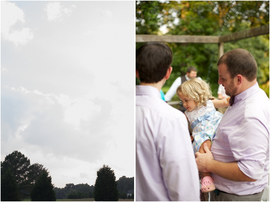carolina skies, guests at wedding reception, rustic southern wedding photography
