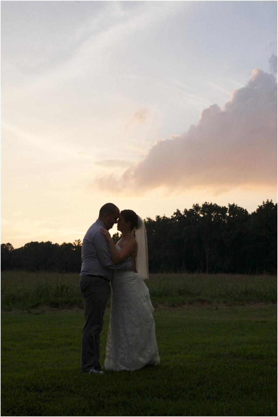 sunset wedding photography, raleigh nc
