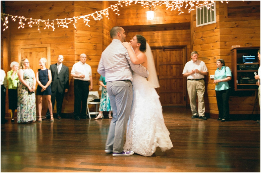 bride and groom dancing, rustic barn wedding photography