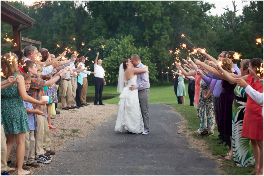 fun sparkler exit for the happy bride and groom, romantic wedding photography