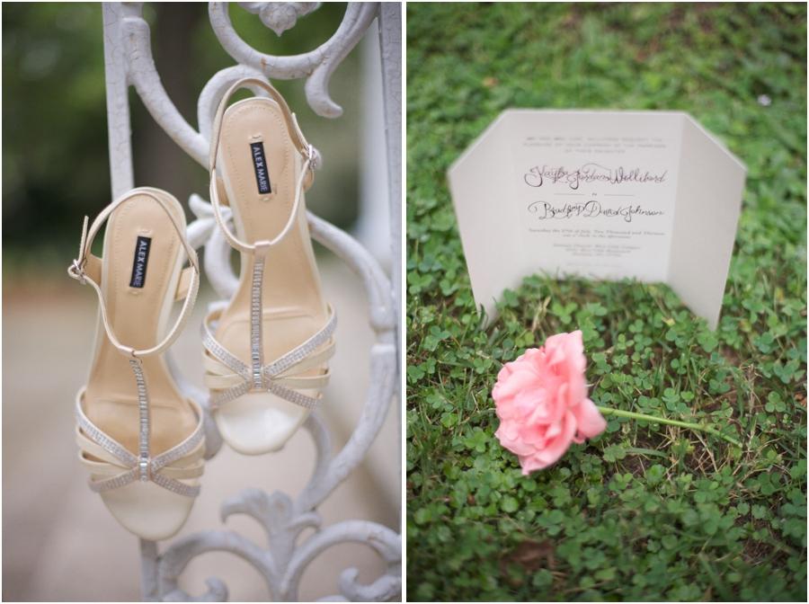 bride's cream high heels, elegant wedding stationary by Morgan Moore