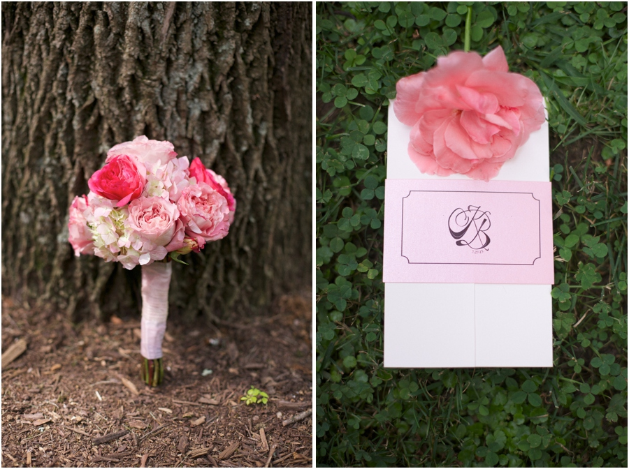 pink and blush fresh bridal bouquets, southern wedding photography, raleigh nc