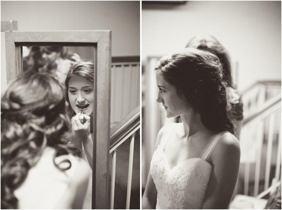 black and white wedding photography, bride getting ready, vintage wedding photographers