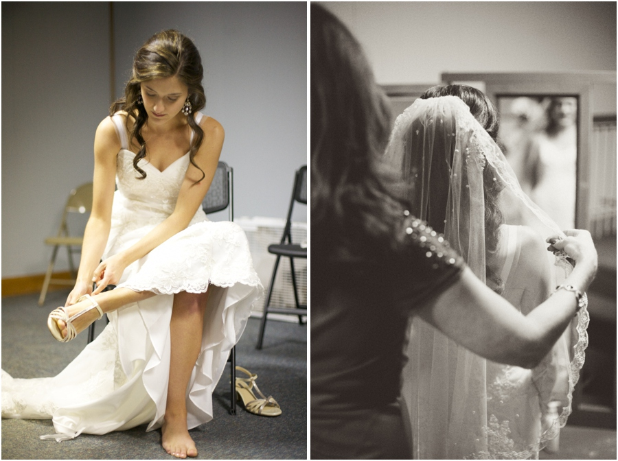 bride getting ready, vintage wedding photography, raleigh nc