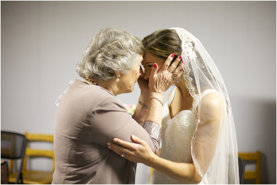 sweet moment before the wedding, bride and her grandma, vintage wedding photographers