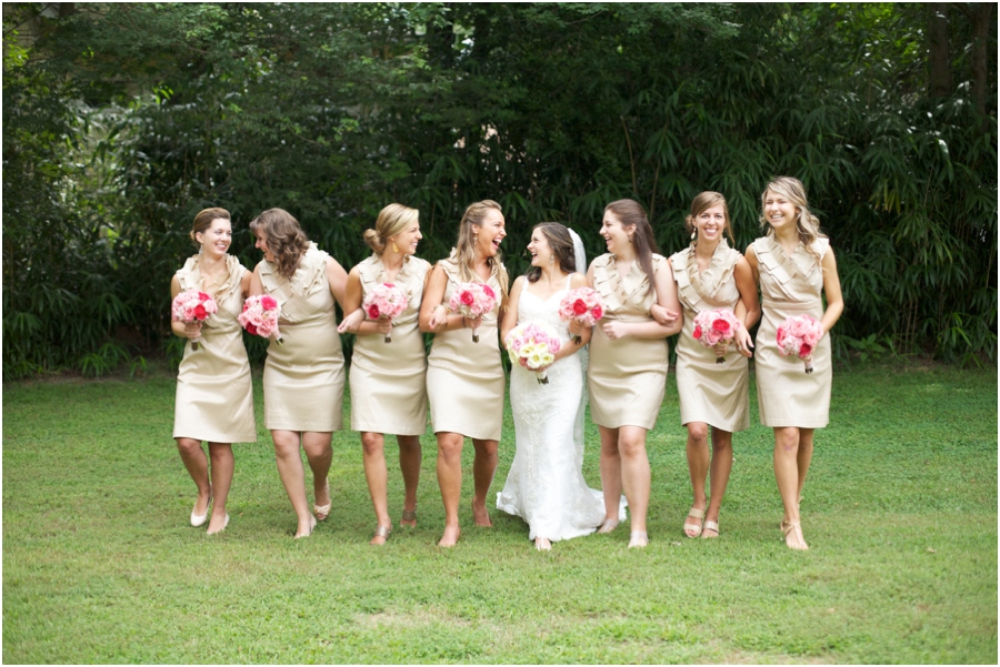 fun bridal party poses, southern wedding photography, raleigh nc