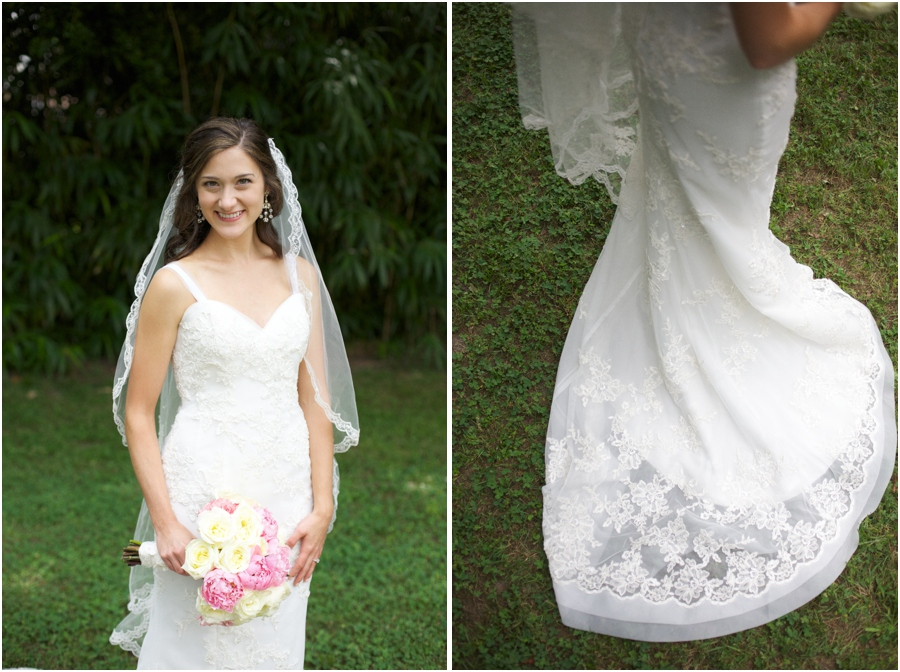 bride with long veil, wedding dress with train