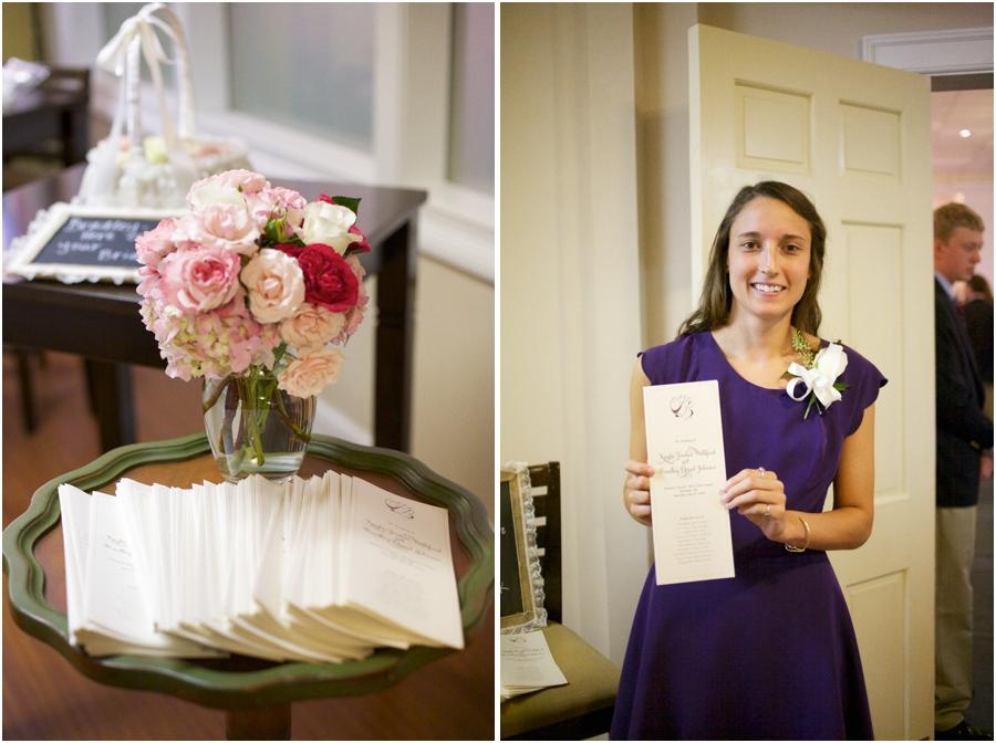 elegant wedding programs, southern wedding photography