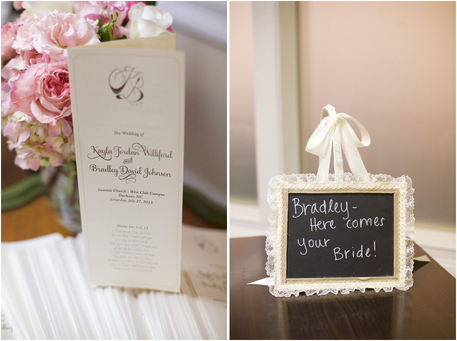 southern wedding program, lace edged chalkboard sign, southern wedding photographers