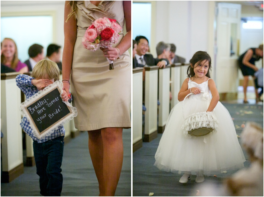 cute sign bearer and flowergirl, southern wedding photography