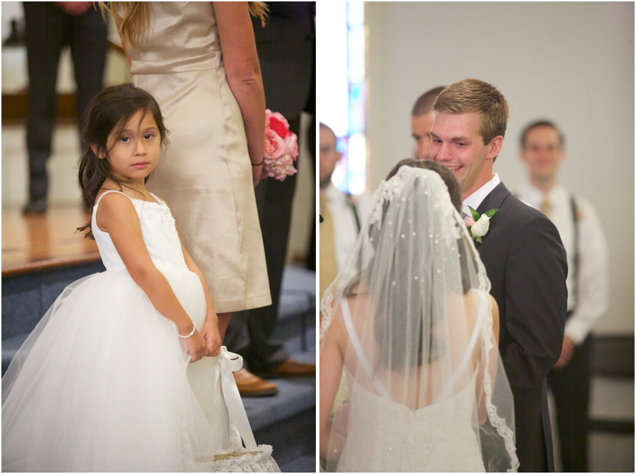 cute flowergirl at north carolina wedding, southern wedding photography