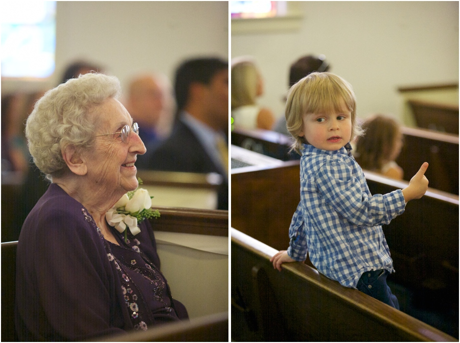 friends and family at wedding ceremony, southern wedding photographers, raleigh nc
