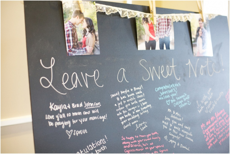 cute guestbook ideas, chalkboard guestbook, southern wedding photographers, raleigh nc