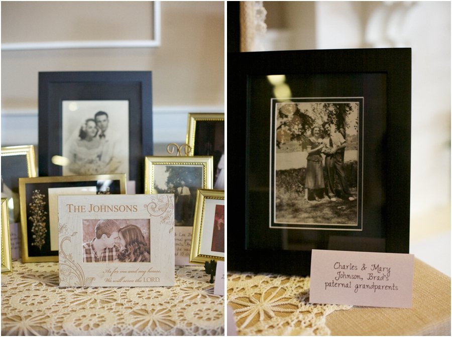 wedding pictures of several generations of the bride and groom's families at wedding reception, southern wedding photographers