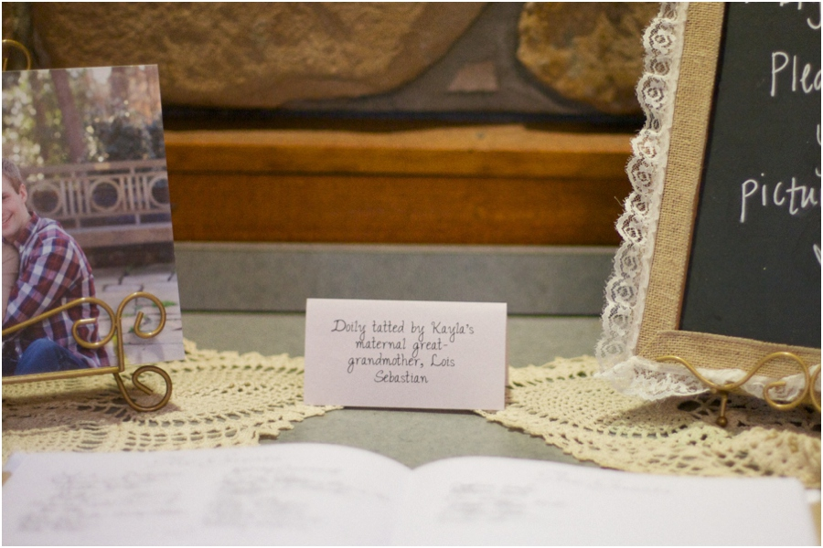 heirloom decor at wedding reception, southern wedding photographers, raleigh nc