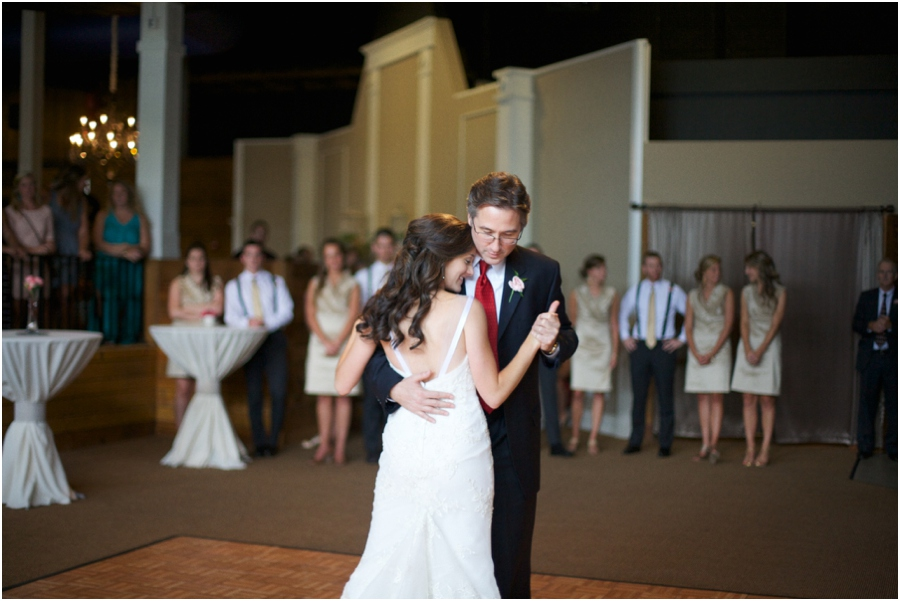 father daughter dance at cyprus manor, southern wedding photography, cary nc