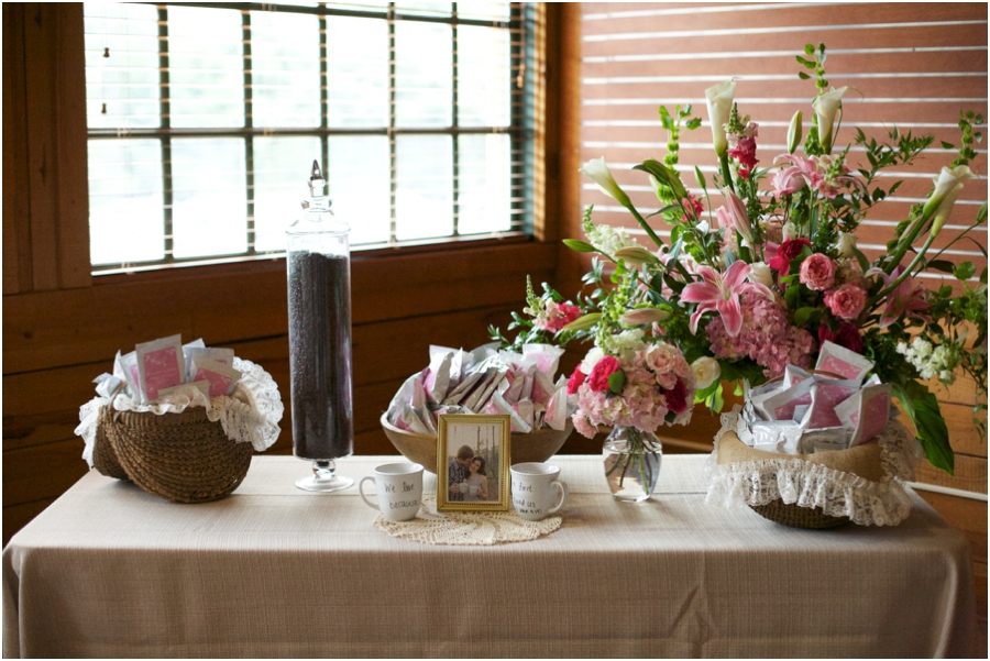 rustic wedding decor, wedding favors for coffee lovers, personalized coffee packets