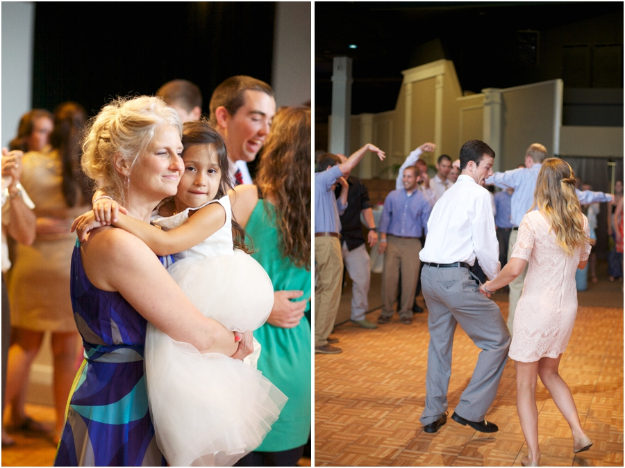 guests at wedding reception, southern wedding photography, raleigh nc