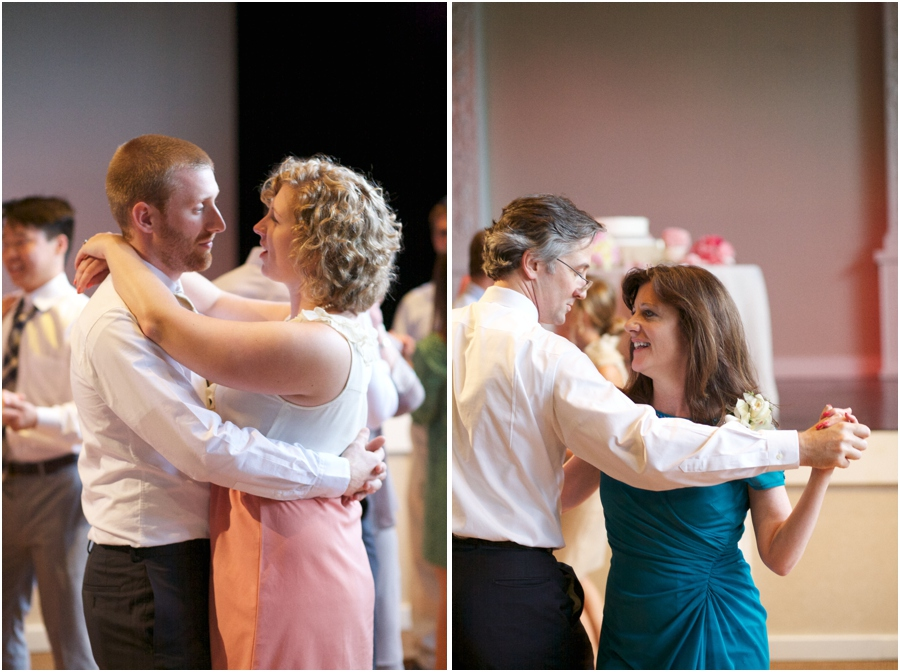 guests dancing at wedding reception, southern wedding photography, raleigh nc