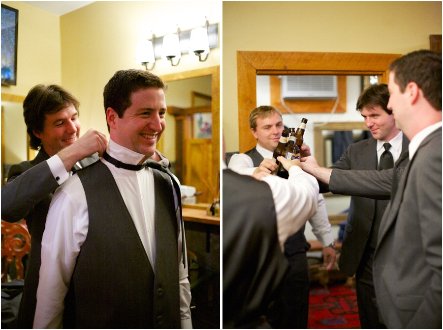groom getting ready, groomsmen toasting before the ceremony