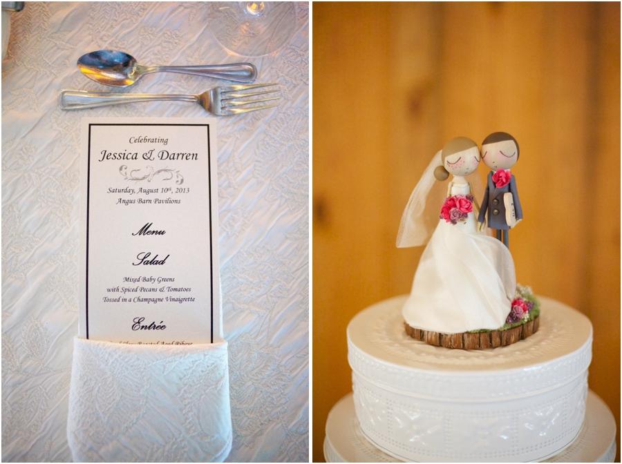 angus barn reception menu, cute wedding cake topper