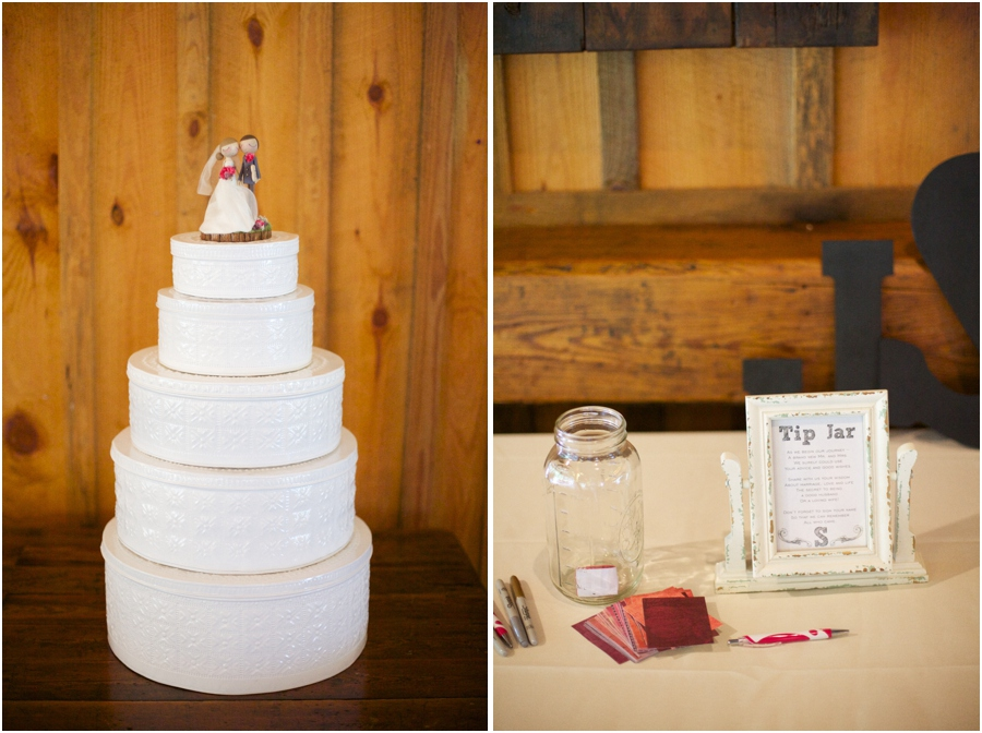 southern wedding photography, cute wedding reception ideas, tip jar for advice and notes to the couple