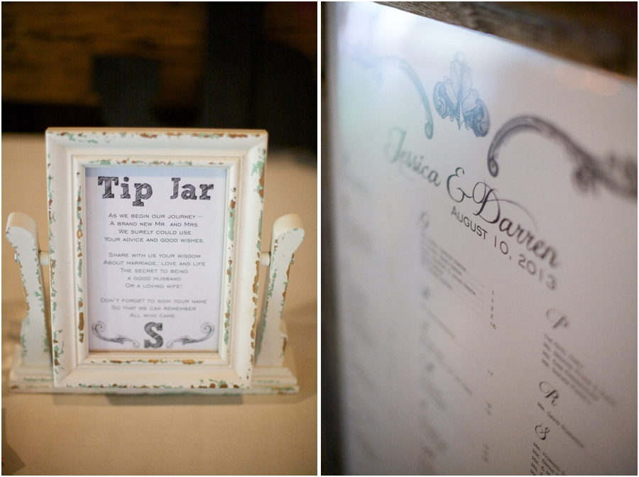 unique wedding reception ideas, tip jar for guests to write advice and notes to the couple, southern wedding photographers