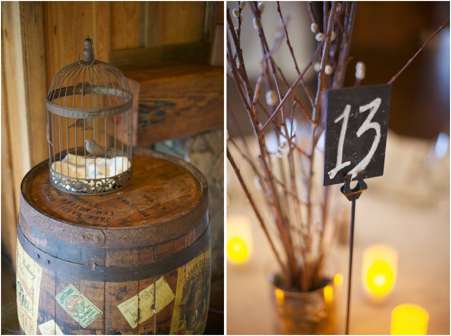 rustic wedding reception decor, angus barn wedding photography