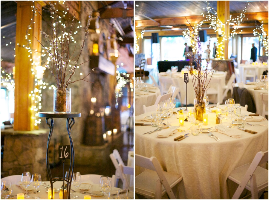 beautiful tables at angus barn wedding reception, southern wedding photography