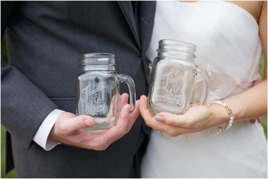personalized mason jar mugs, rustic wedding photographer