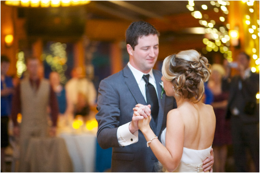 bride and groom dancing at angus barn wedding reception, southern wedding photography