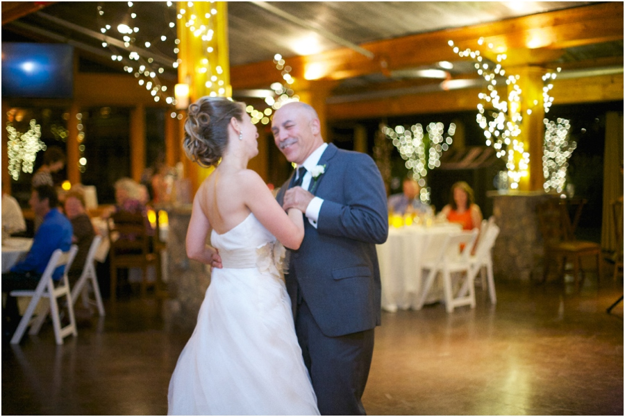 father daughter dance at wedding reception, southern wedding photography