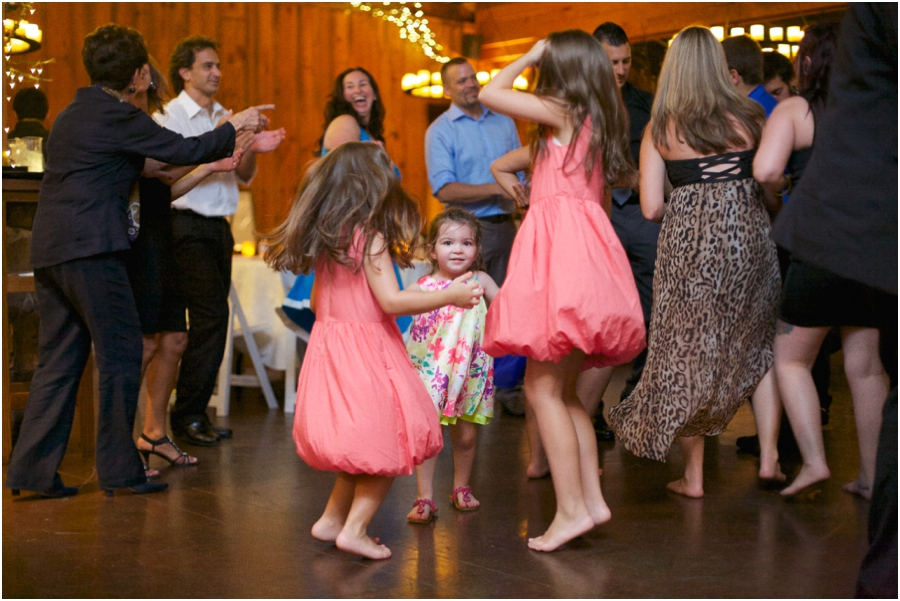 cute kids dancing at wedding reception, southern raleigh nc wedding photography
