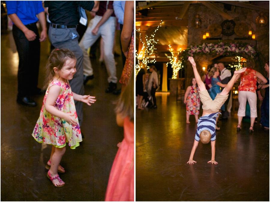 cute kids hitting the dance floor at angus barn wedding reception, southern wedding photography