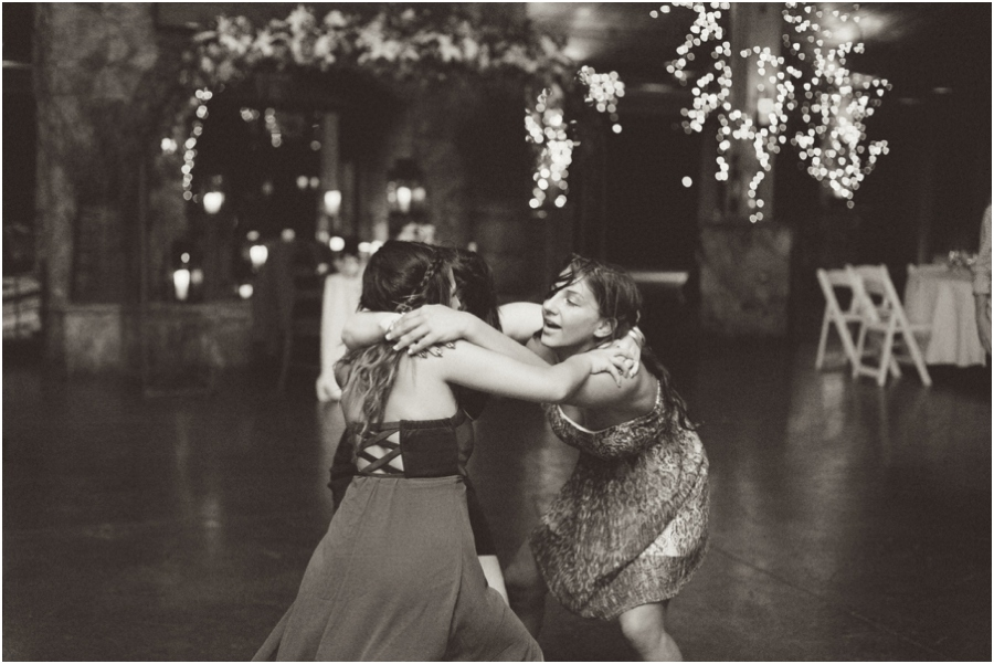 friends dancing at wedding reception, angus barn wedding photography
