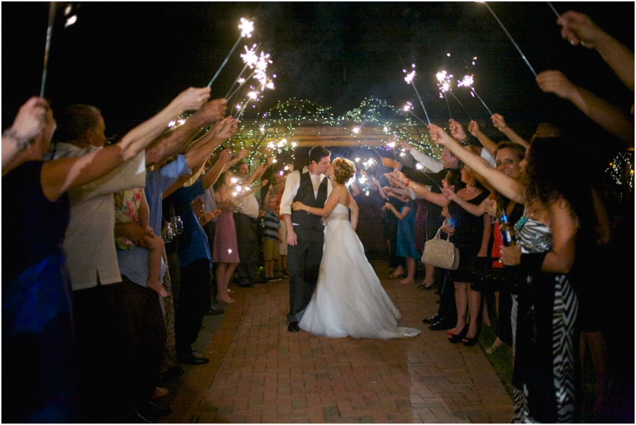 sparkler send off, southern raleigh nc wedding photographers