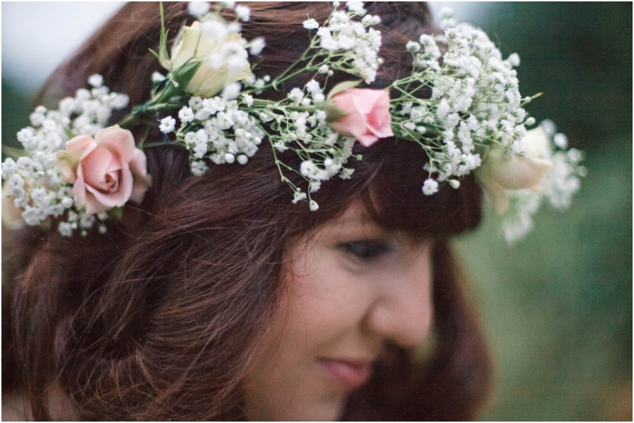 fresh flower crown, southern vintage photography