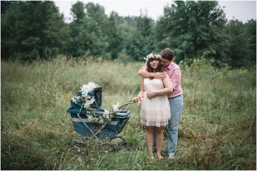 vintage maternity photography, raleigh nc