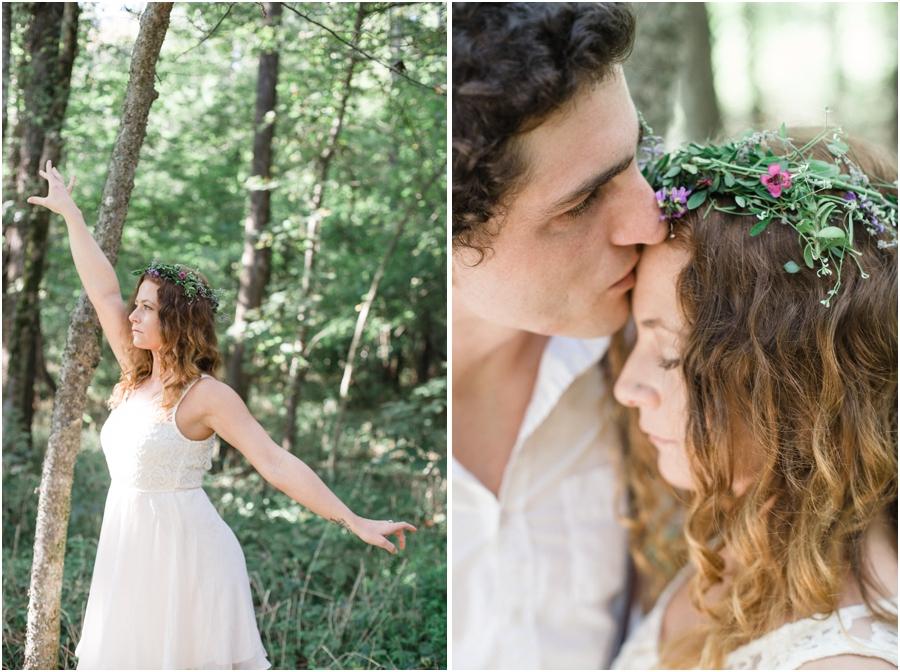 romantic bohemian photography, diy wildflower crown